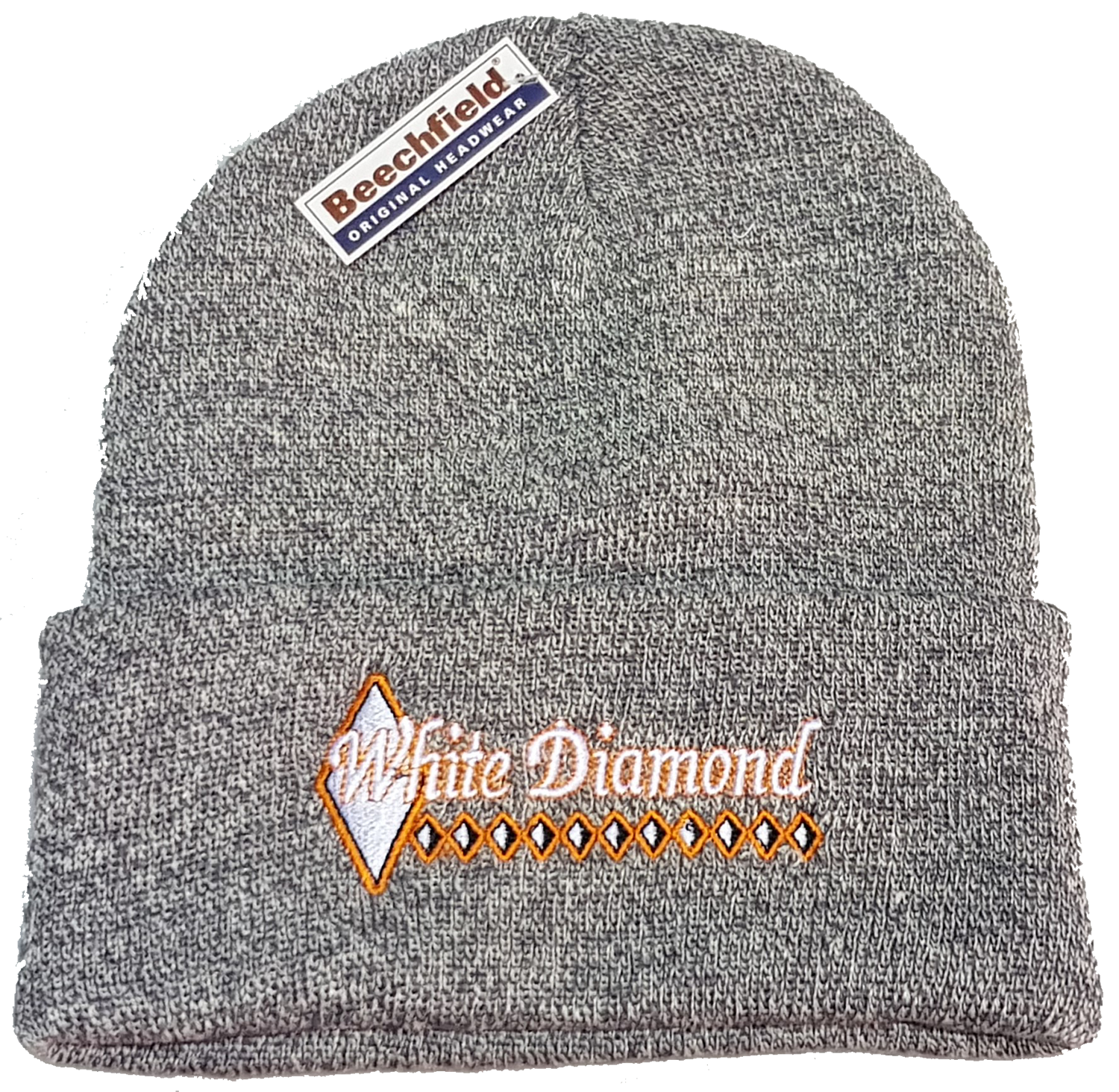 a2205676b49 White Diamond Beanie Hat – Custom Products Europe Ltd
